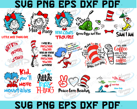 Dr seuss svg, Dr Seuss bundle svg, Dr seuss 2020 svg, Dr seuss png,eps,dxf,pdf,svg file