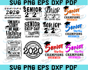 Bundle seniors 2020 Svg and Png Digital download