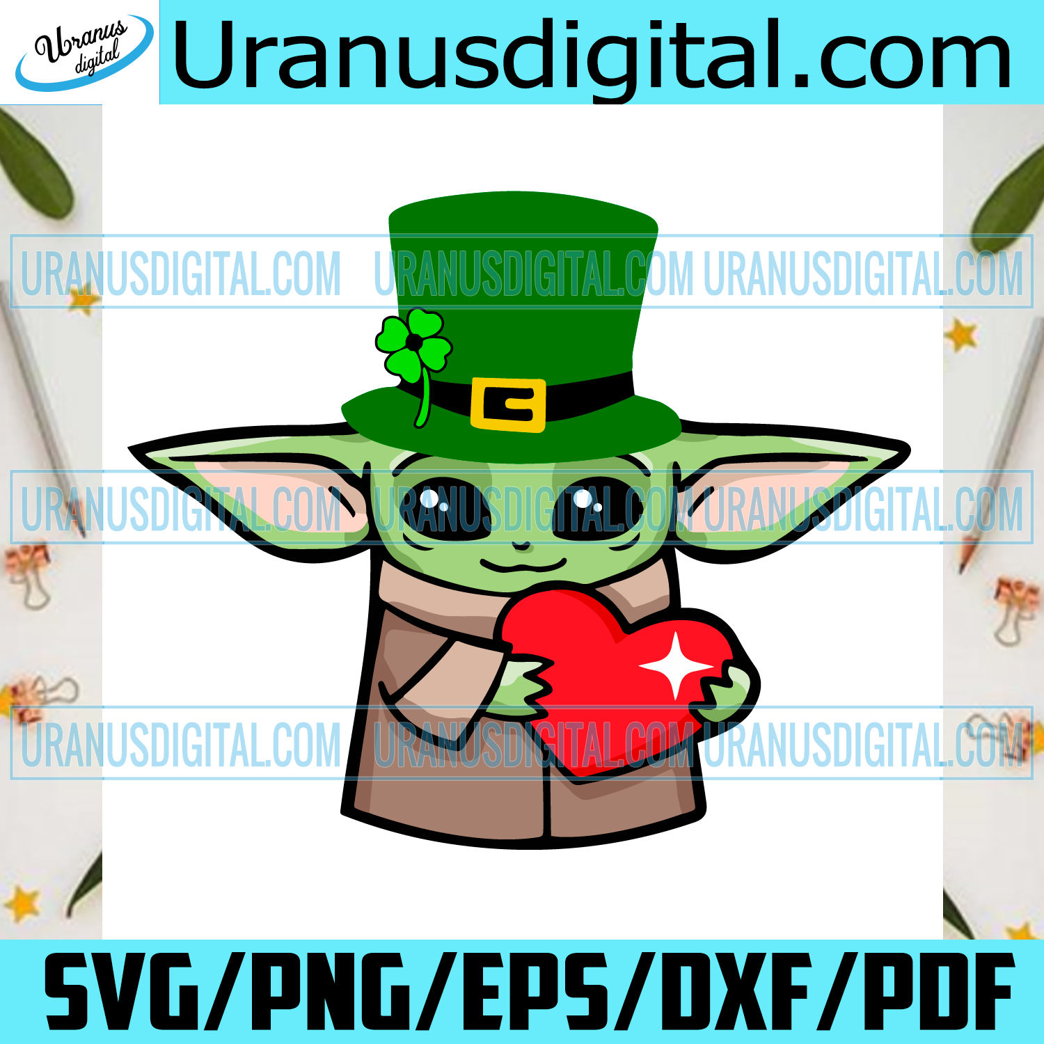 Baby Yoda St Patrick's Day Svg, Trending Svg, St Patrick's Day Svg, Baby Yoda Irish Day Svg