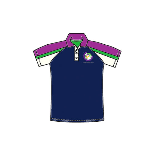Polo - Navy colour blocked