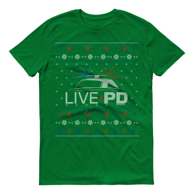 Live PD Sirens Holiday Short Sleeve T-Shirt