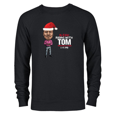 LivePD Sleigh Riding With Tom C Lightweight Crewneck Sweatshirt