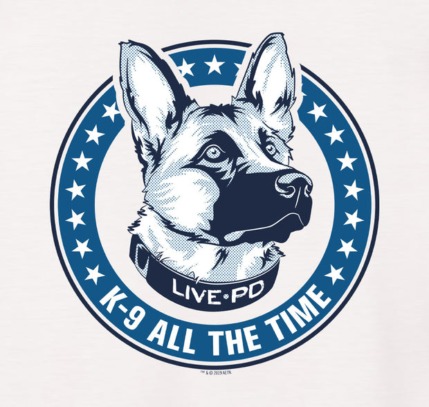 Live PD K9 All The Time Adult Short Sleeve T-Shirt