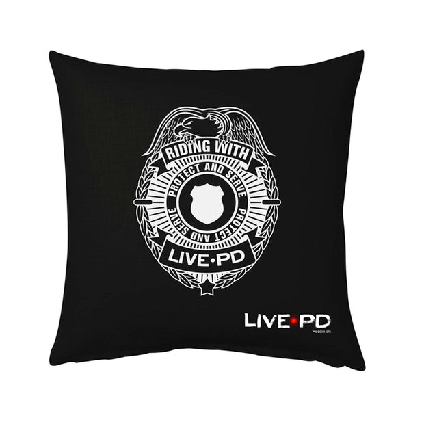 "Live PD Badge Pillow - 16"" X 16"""