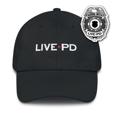 Live PD Logo Embroidered Hat and Sticker Bundle