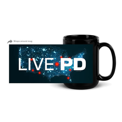 Live PD Map 15 oz Black Mug