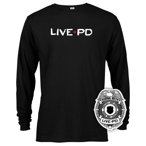 Live PD Logo Long Sleeve T-Shirt With Sticker Bundle