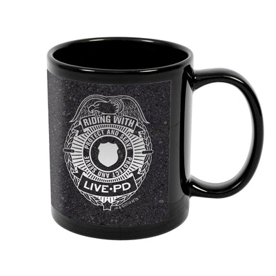 Live PD Badge Black Mug