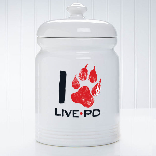 Live PD I Paw Print Treat Jar