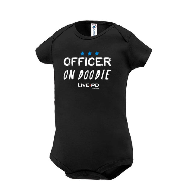 Live PD Officer on Doodie Baby Bodysuit