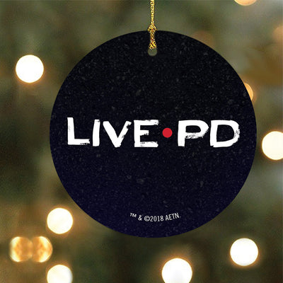 Live PD Logo Double-Sided Ornament