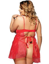 Load image into Gallery viewer, ENNIS HEART BABYDOLL PLUS SIZE