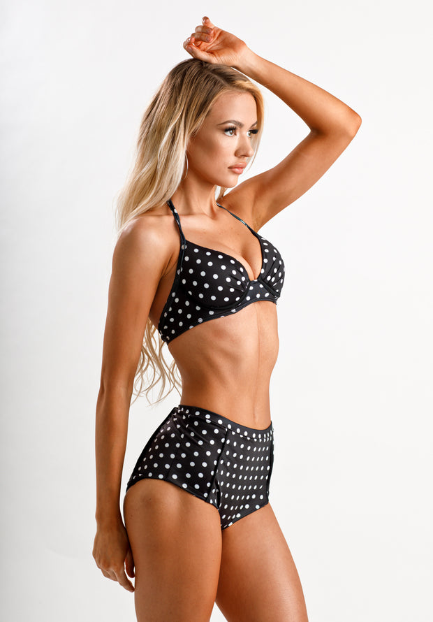 Audrey Polka Dot Top - Cassea Swim