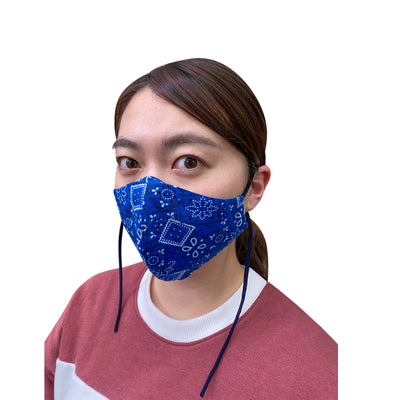 Cotton Reusable Mask with Bandana Print - JC Masks