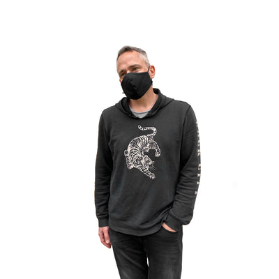 Back in Black, Cotton, Poly Reusable Mask - Made in Canada - JC Masks