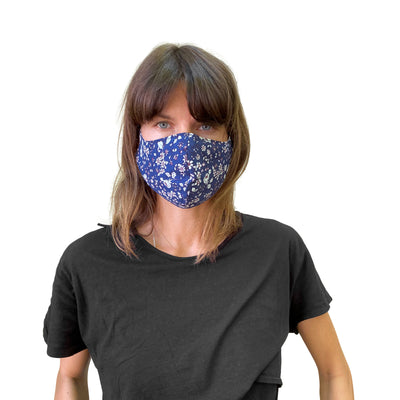 Reversible Reusable Mask, Cotton Floral and Tencel - JC Masks
