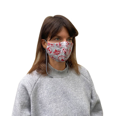 Cotton Reusable Mask with Canada Stamp - JC Masks