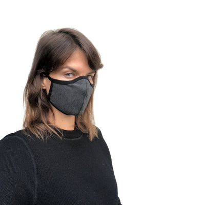 Breath Easy Workout Face Mask Grey - Bamboo Fabric - JC Masks