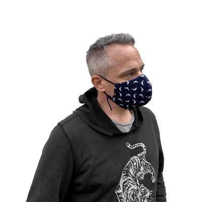 Cotton Reusable Mask with Dolphin Print - JC Masks