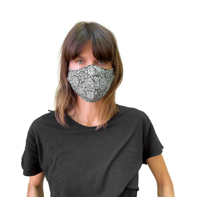 Reversible Reusable Mask, Hemp and Cotton - JC Masks