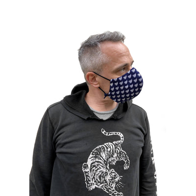 Cotton Reusable Mask w/ Sailboat Print - JC Masks