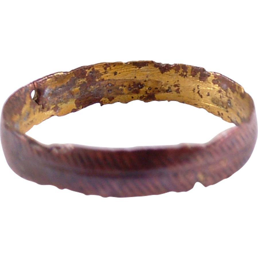 RARE VIKING COPPER WEDDING RING - Fagan Arms