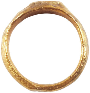 MEDIEVAL GIRL'S OR WOMAN'S RING, 7th-10th CENTURY SIZE 3