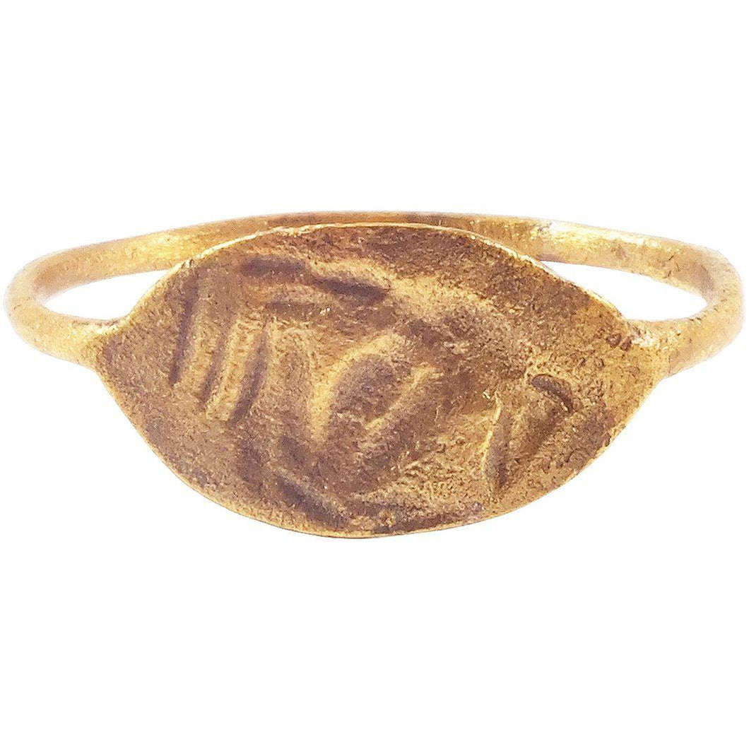 ANCIENT VIKING RUNIC RING C.850-1050 AD SIZE 9 ¾