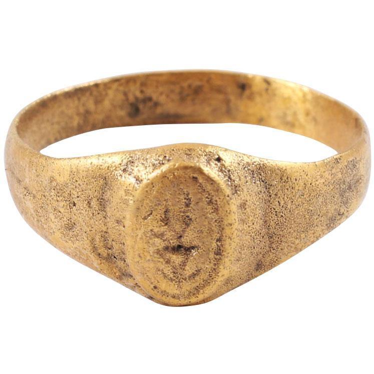 Early Christian Gilt Ring C.8Th-11Th Century - Product