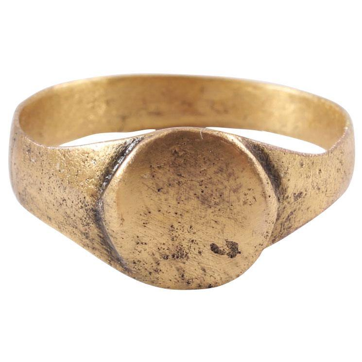 Fine Early Christian Gilt Ring C.8Th-11Th Century - Product