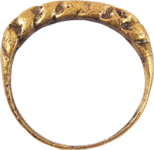 VIKING TWISTED MOTIF RING 850-1050 AD SIZE 8 ¾