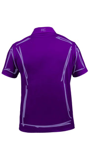 "Polo homme ""L'Intemporel"" violet et lilas"