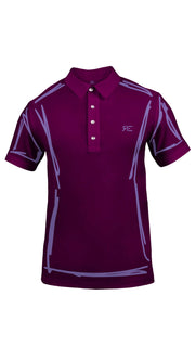 "Polo homme ""L'Intemporel"" bordeaux et lilas"