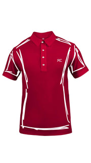 "Polo homme ""L'Intemporel"" rouge et blanc"