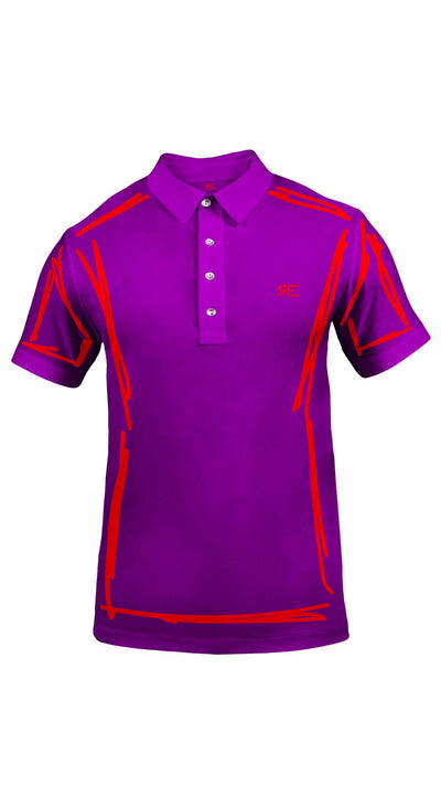 "Polo homme ""L'Intemporel"" pourpre et rouge"