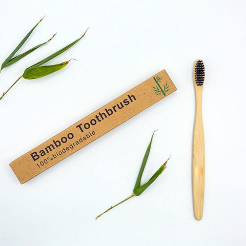 Bamboo Toothbrush With Natural Bristles