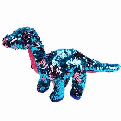 Space Rocket Plush Toy Colorful Sequin Dinosaur