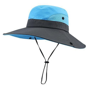 blue summer hat for women