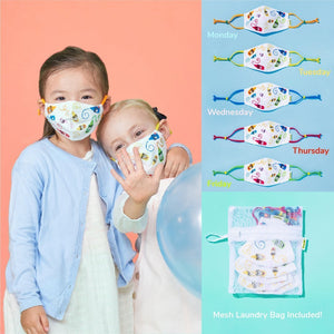 Kids Reusable Cloth Face Mask Set, Craymoji, Back to School Supplies