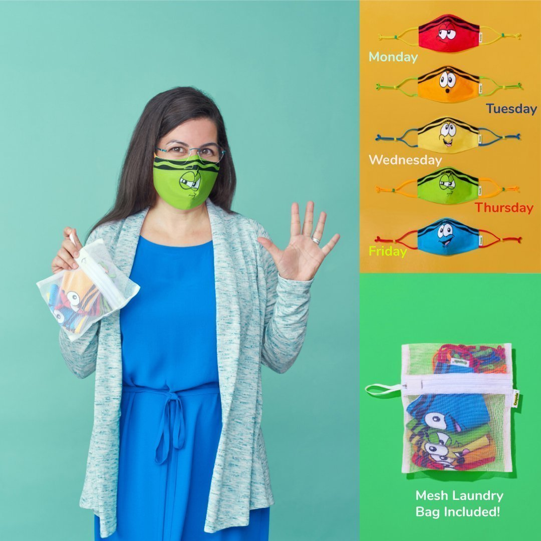 Teacher/Adult Reusable Cloth Face Mask Set, Back to School Supplies