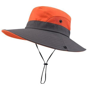 orange summer hat for women