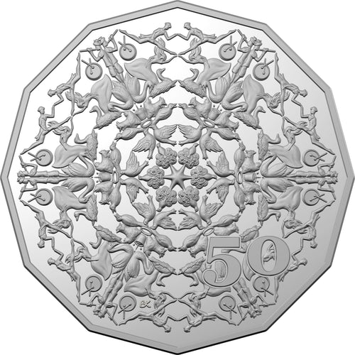 Christmas Decoration 2019 50c Uncirculated Coin
