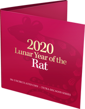Load image into Gallery viewer, Lunar Year of the Rat 2020 50c Uncirculated Tetra-Decagon Coin