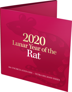 Lunar Year of the Rat 2020 50c Uncirculated Tetra-Decagon Coin