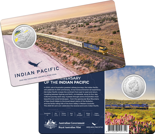 50th Anniversary of the Indian Pacific Coin