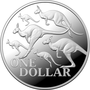 Kangaroo Series - Red Kangaroo $1 Fine Silver Coin Boxed