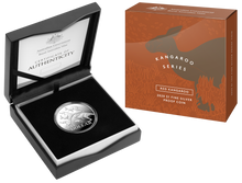 Load image into Gallery viewer, Kangaroo Series - Red Kangaroo $1 Fine Silver Coin Boxed