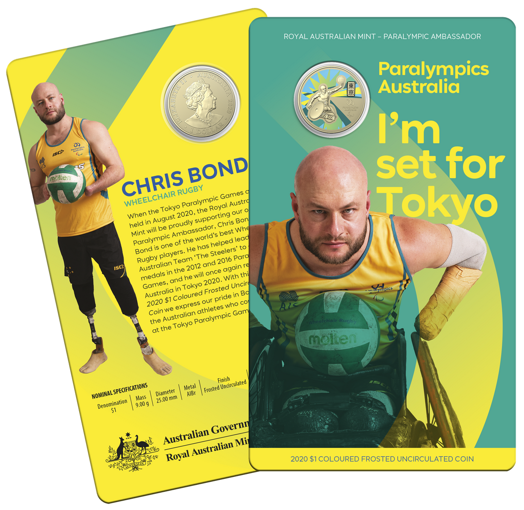Australian Paralympic Team - Ambassador Chris Bond Coin