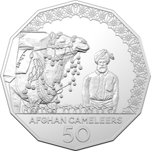 Load image into Gallery viewer, The Afghan Cameleers 2020 50c Uncirculated Coin