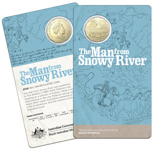 Banjo Paterson's - The Man from Snowy River 50c Uncirculated Coin